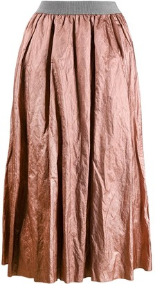 Fabiana Filippi Crumpled Midi Skirt