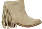 Coolway Beige Naomi Fringe Leather Ankle Boot
