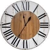 Gracie Oaks Oversized Bryan Farmhouse Wall Clock