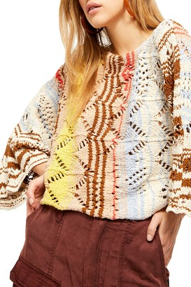 Free People Coral Reef Pullover Sweater