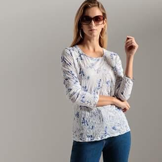 Anne Weyburn Crinkled Floral Print T-Shirt