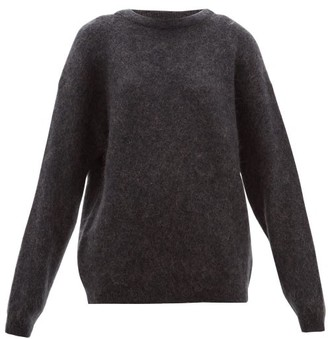 Acne Studios Dramatic Boat Neck Sweater - Womens - Dark Grey