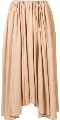 Jil Sander Pleated Asymmetric Midi Skirt