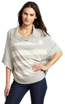 Charlotte Tarantola Women's Crosswalk Stripe Poncho Top