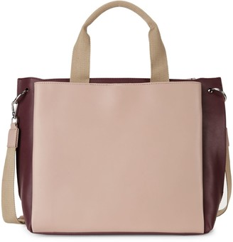 French Connection Large Maxine Faux Leather Satchel