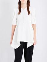 Sportmax Addurre pleated-sleeves crepe top