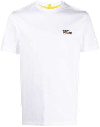 Lacoste leopard-print logo T-shirt