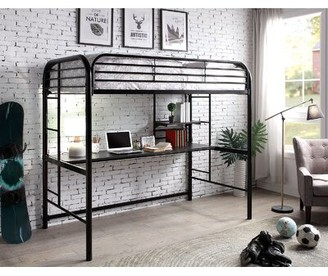 Zoomie Kids Ruthton Twin Loft Bed Bed Frame Color: Black