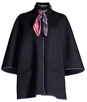 Etro Women's Scarf Collar Wool & Angora Jacket