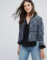 French Connection Palm Valley Embroidered Trophy Jacket