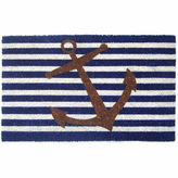 Asstd National Brand Nautical Anchor Rectangular Doormat