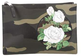 Christian Dior Embroidered Leather Pouch w/ Tags