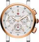 Michele Sport Sail 18 Diamond Two-Tone Watch Head, 38mm