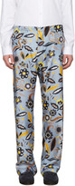 Fendi Blue Floral Pyjama Trousers