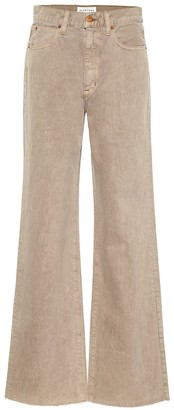 SLVRLAKE Grace Crop high-rise wide-leg jeans
