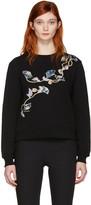 Carven Black Floral Pullover