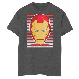 Iron Man Unbranded Boys 8-20 Marvel Avengers Assemble Face Tee