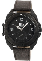 Reign Churchill Collection Men's Automatic Leather and Stainless Steel Watch