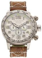 Akribos XXIV Men's Trek Leather Chronograph Watch