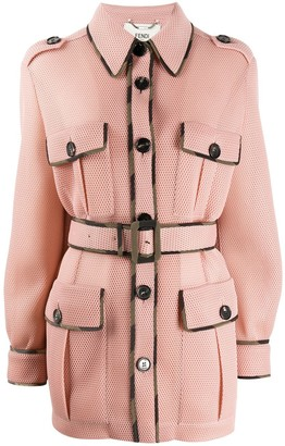 Fendi Belted Fitted Jacket