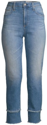AG Jeans Isabelle Mid-Rise Crop Straight-Leg Jeans