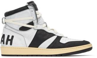 Rhude White and Black Rhecess Classic Hi Sneakers