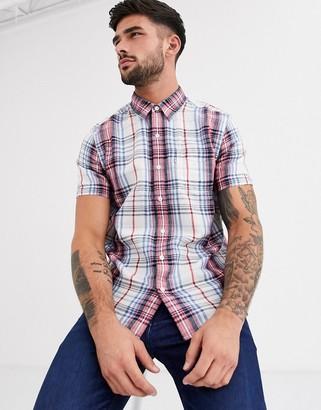 Levi's sunset short sleeve check shirt-Blue