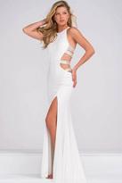 Jovani Fitted Sleeveless High Slit Prom Dress JVN37010