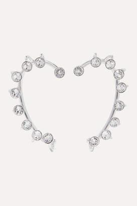 Thierry Mugler Silver-tone Crystal Ear Cuffs - one size