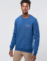 Wood Wood Houston Sweatshirt Aa Logo