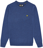 Lyle & Scott Lambswool Crew Neck Jumper, Navy