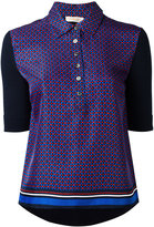 Tory Burch printed polo shirt - women - Silk/Cotton - XS