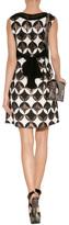 Anna Sui Geometric Deco Dress in Black Multi