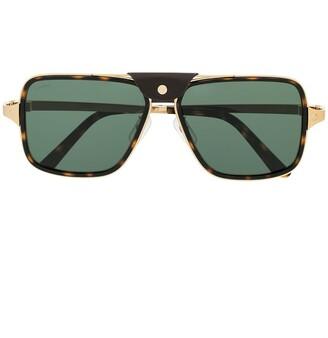 Cartier Tortoiseshell Aviator Sunglasses