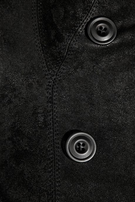 Rick Owens Blister brushed-leather jacket