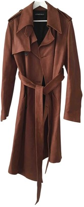 Y/Project Brown Leather Coats