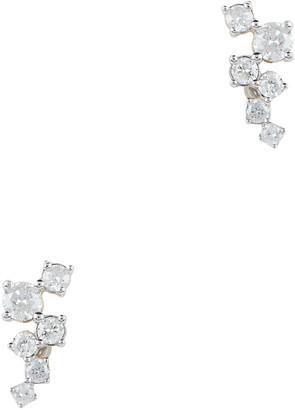 Adina Scattered Diamond Post Back Earrings