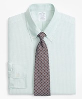 Brooks Brothers Original Polo Button-Down Oxford Regent Fitted Dress Shirt, Candy Stripe