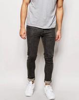 Asos Super Skinny Jeans In Mid Gray