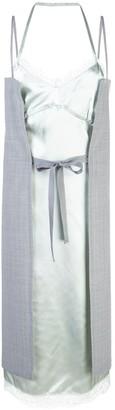 MM6 MAISON MARGIELA bi-material strappy dress