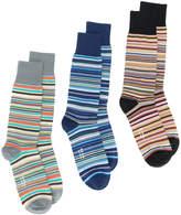 Paul Smith multi-stripe three pack of socks