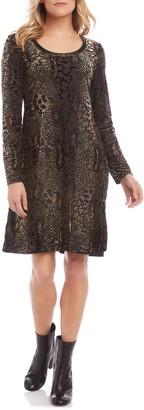 Karen Kane Long Sleeve Burnout Dress