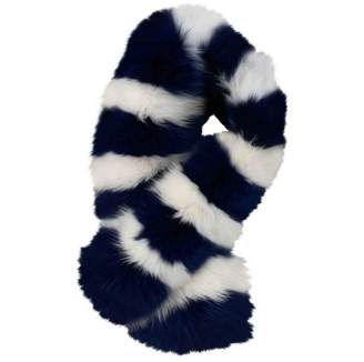 CHARLOTTE SIMONE Blue Fox Scarves