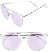 BP Women's 58Mm Colored Round Sunglasses - Clear/ Purple