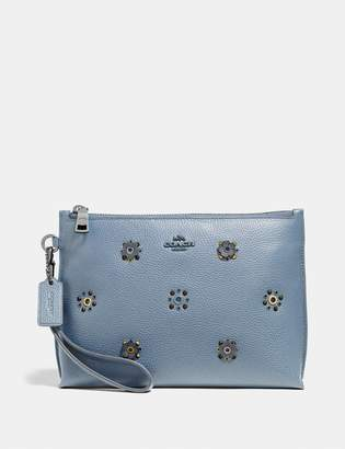 Coach Charlie Pouch With Scattered Rivets