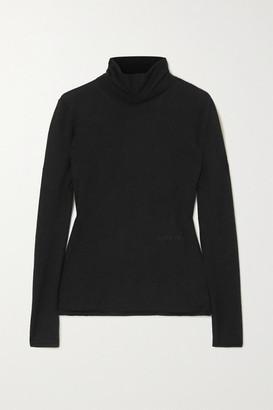 Burberry Cashmere And Silk-blend Turtleneck Sweater - Black