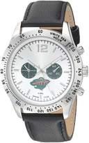 Game Time Men's NHL-LET-MIN Letterman Analog Display Japanese Quartz Black Watch