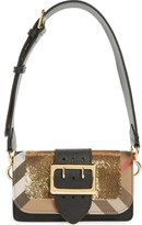 Burberry 'Small Belt Bag' Leather & House Check Convertible Shoulder Bag