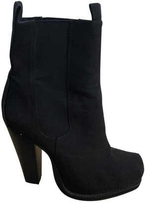 Opening Ceremony Black Cloth Boots