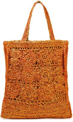 Antik Batik Holy Oversized Crocheted Raffia Tote